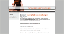Preview of photoausruestung.de