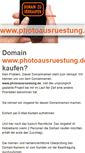 Mobile Preview of photoausruestung.de