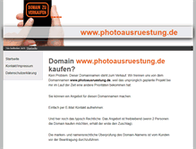 Tablet Preview of photoausruestung.de